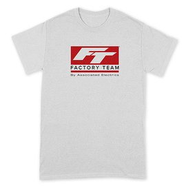 Team Associated ASCSP161XL  Team Associated Factory Team T-Shirt (White) (XL)