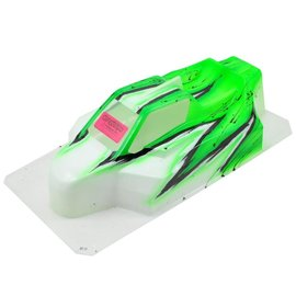 "Bittydesign BDYFRC-XB8WAVG  ""Force"" XRAY XB8 1/8 Pre-Painted Buggy Body (Wave) (Green)"