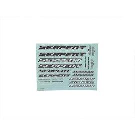 Serpent SER190402   Decal sheet Serpent large black-white (2)