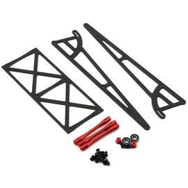 Drag Race Concepts DRC-342-0001  Red Drag Pak Wheelie Bar w/Bearing Wheels Slash Bandit