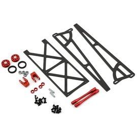 Drag Race Concepts DRC-355-0001  Red Slider Wheelie Bar w/O-Ring Wheels DR10 Slash Bandit