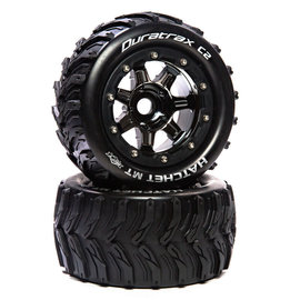 "Duratrax DTXC5607  Hatchet MT Belt 2.8"" Mounted Front/Rear Tires .5 Offset 17mm, Black Chrome (2)"