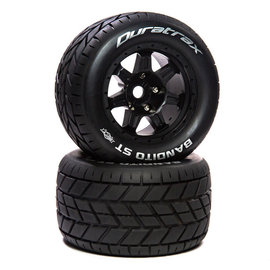 "Duratrax DTXC5612  Bandito ST Belt 3.8"" Mounted Front/Rear Tires .5 Offset 17mm, Black (2)"