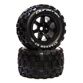"Duratrax DTXC5624  Stakker ST Belt 3.8"" Mounted Front/Rear Tires .5 Offset 17mm, Black (2)"