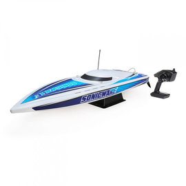 "Proboat PRB08032T1  White / Blue Sonicwake 36"" Self Righting Brushless Deep-V RTR"