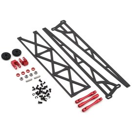 "Drag Race Concepts DRC-391-0001  Red 10"" Slider Wheelie Bar w/Plastic Wheels (Mid Motor)"