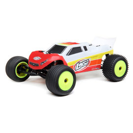 TLR / Team Losi LOS01019T1  Red / White 1/18 Mini-T 2.0 2WD Stadium Truck Brushless RTR