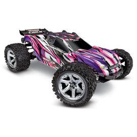 Traxxas TRA67076-4  Pink Rustler 4X4 VXL Brushless RTR 4wd Stadium Truck