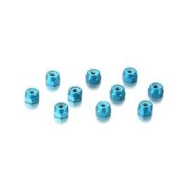 Hudy HUD296530-B  Blue Aluminum 3mm Wheel Nuts (10)