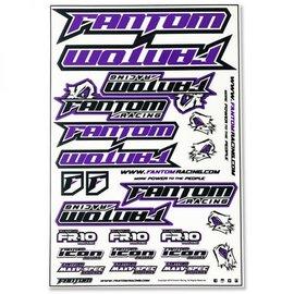 Fantom Racing FAN70162  Vinyl Die-Cut Team Sticker Sheet – Purple