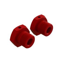 Arrma ARA310904  Red Aluminum 17mm Hex Wheel (2) Typhon 4x4 & 3S