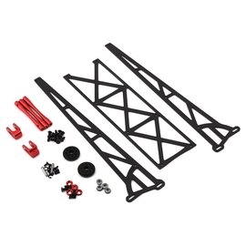 "Drag Race Concepts DRC-390-0001  Red DR10 10"" Slider Wheelie Bar w/Plastic Wheels"