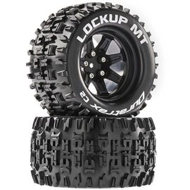 Duratrax DTXC5252  Lockup MT 2.8 Mounted Tires, Black 14mm Hex (2)