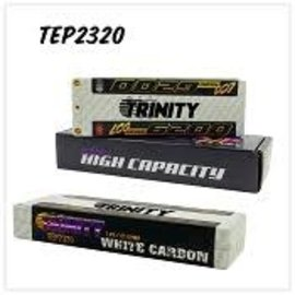 Trinity TEP2320  White Carbon 2S 7.4v 6200mAh 150C LCG LiPo w/ 5mm Bullets