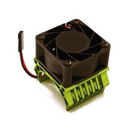 Integy C28602GREEN  Green 36mm Motor Heatsink+40mm Fan 17k rpm