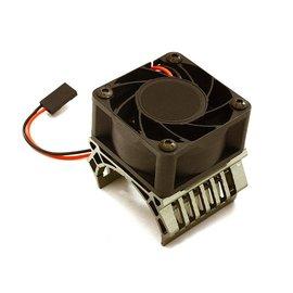 Integy C28602GREY  Grey 36mm Motor Heatsink+40mm Fan 17k rpm