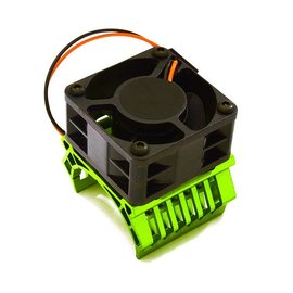 Integy C28597DARKGREEN  Green Aluminum 36mm Motor Heatsink+40mm Cooling Fan 16k rpm