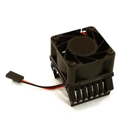 Integy C28598BLACK  Black Aluminum 36mm Motor Heatsink+40x40mm Cooling Fan 17k rpm