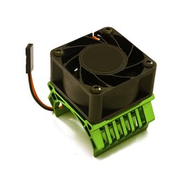 Integy C28598DARKGREEN  Green Alum 36mm Motor Heatsink+40x40mm Cooling Fan 17k rpm