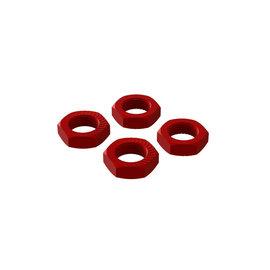 Arrma AR310906  Red Aluminum 17mm Wheel Nuts (4)