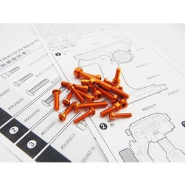 Hiro Seiko 48410  Hiro Seiko Orange M17 Light Weight Screw Set