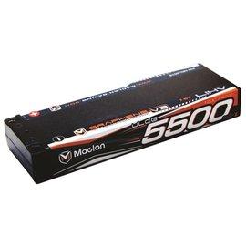 Maclan Racing MCL6016  Maclan V3 2S 7.6v 5500mAh 120C HV ULCG LiPo w/ 5mm Bullets