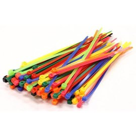 Integy C23386COLOR  Mixed Color Plastic Tie Wrap / Cable Ties (100)