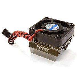 Integy C25861GREY  Grey Heatsink Mount & High Speed Cooling Fan 28mm O.D. Motor