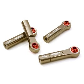 Integy C26791GUN  Gun Metal 3mm Metal Ball End 35mm Long M3 Reverse Thread (4)