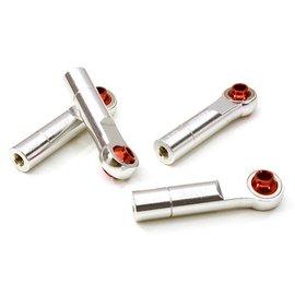 Integy C26791SILVER  Silver 3mm Metal Ball End 35mm Long M3 Reverse Thread (4)