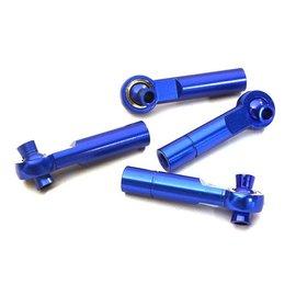 Integy C28067BLUE  Blue 3mm Metal Ball End 35mm Long M4 Normal (2) Reverse Thread (2)