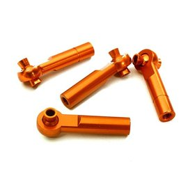 Integy C28067ORANGE  Orange 3mm Metal Ball End 35mm Long M4 Normal (2) Reverse Thread (2)
