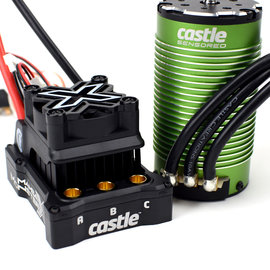 Castle Creations CSE010-0165-03  1/6 Mamba Monster X 8S 33.6V WP ESC with 1717-1260Kv Motor Combo