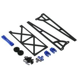 Drag Race Concepts DRC-355.1-0002  Blue Slider Wheelie Bar w/Plastic Wheels