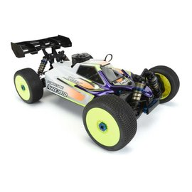 Proline Racing PRO3554-00  Clear Body, Axis: Associated RC8B3.2 & RC8B3.2e with LCG Battery