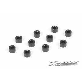 Xray XRA303127-K  Black Aluminum Shim 3x6x4mm (10)