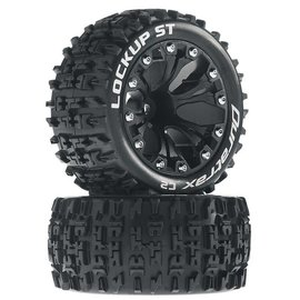 "Duratrax DTXC3568 Black Lockup ST 2.8"" Mounted Offset Tires, (2)"