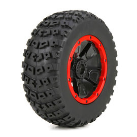 TLR / Team Losi LOS45004  1/5 Left & Right Front/Rear 4.75 Pre-Mounted Tires, 24mm Hex (2): DB XL