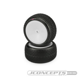 J Concepts JCO3190-101021  Twin Pins 2wd Rear Buggy Tires, Pink Compound - Pre-Mounted