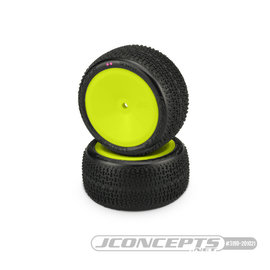 J Concepts JCO3190-201021 Twin Pins 2wd Rear Buggy Tires, Pink Compound - Pre-Mounted