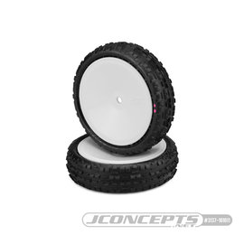 J Concepts JCO3137-101011  Swaggers 2wd Front Buggy Tires, Pink Compound - Pre-Mounted