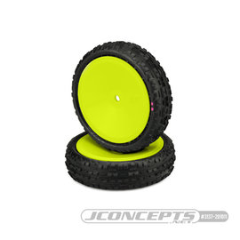 J Concepts JCO3137-201011  Swaggers 2wd Front Buggy Tires, Pink Compound - Pre-Mounted