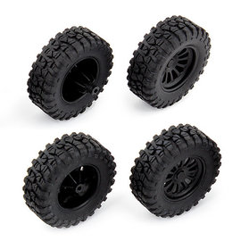 Team Associated ASC21431  MT28 Mounted Front and Rear Wheels and Tires