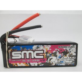 SMC SMC64401-3S2PQS8  Drag Pack 3S 11.1v 6400mAh 150C LiPo w/ QS8 Plug