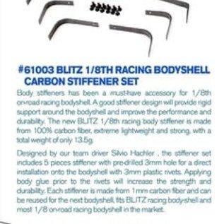 BLITZ 61003  Blitz 1/8th Racing Bodyshell Carbon Stiffener