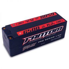 Fantom Racing FAN25191  Fantom 4S 15.2v 6500mAh 130C HV LiPo w/ 5mm Bullets