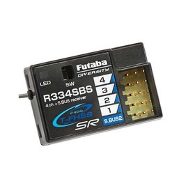 Futaba FUT01102246-3  R334SBS TFHSS SR S.Bus2 HV 4-Channel 2.4GHz Receiver