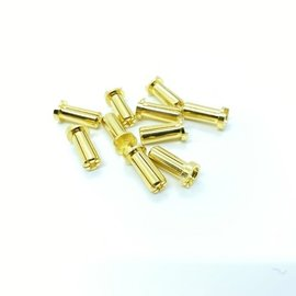 Maclan Racing MCL4217  MAX Current 5mm Low Profile Gold Bullet Connectors (10)