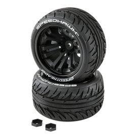 Duratrax DTXC2900  SpeedTreads Speedhawk Tires Mounted (2): ST MT