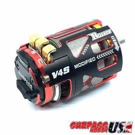 Surpass Hobby USA V4S-4.0 Rocket V4S 4.0T Modified Sensored Brushless Motor Red/Black